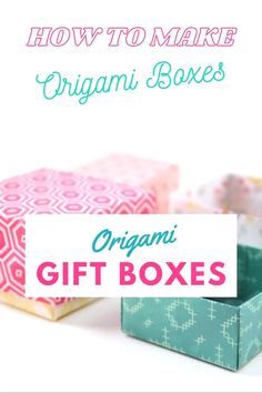Origami Gift Box, Paper Crafts Origami, Origami Boxes, Origami Bookmark, Easy Paper Crafts, Paper Gift Box, Paper Gifts, Gift Boxes, Diy Paper Box