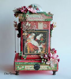 Santas candy box, graphic 45, merry cristmas