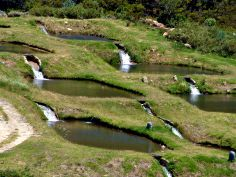 Some trout dams on the eastern side of the old Du Toit's kloof pass, near Paarl, South Africa.