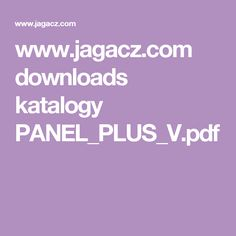 www.jagacz.com downloads katalogy PANEL_PLUS_V.pdf
