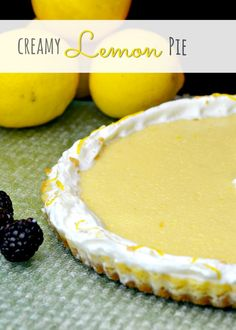 OMG!!  This is AMAZING!  Creamy Lemon Pie!  Butter, eggs, milk, lemon juice and and vanilla, with a homemade graham cracker crust.  6 ingredients of awesome!
