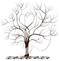 Love Fingerprint Tree Digital Clip Art by CollectiveCreation
