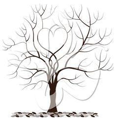 Love Fingerprint Tree Digital Clip Art by CollectiveCreation