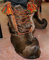Sami reindeer fur boots