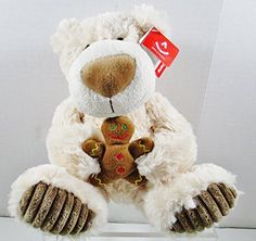 Aurora Gingerbread Latte Plush Ivory Bear  Holding Gingerbread Man  Christmas ** Read more reviews of the product by visiting the link on the image.