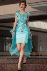 DORISQUEEN(DORIS)party queen blue hi-lo tulle cocktail dresses 30661