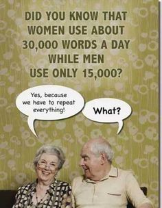 Women use 30000 words a day funny quotes quote jokes women lol funny quote funny quotes funny sayings humor facts Funny Quotes For Teens, Funny Quotes About Life, Funny Sayings, Funny Life, Quotes Distance, Frases Humor, Ecards Humor, Marriage Humor, Word Of The Day