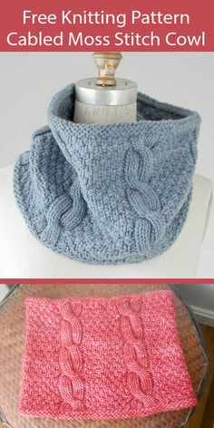 Dishcloth Knitting Patterns, Knit Patterns, Crochet Pattern, Knit Crochet, Easy Knitting, Double Knitting, Knitting Scarves, Knit Cowl, Knitted Cowls