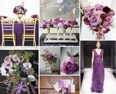 Pantone Inspired Color Boards: By Gavita Flora #Purple Wedding #Violet Wedding #Pantone