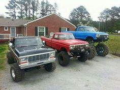 Someday this will be what it is like in my driveway. 1979 Ford Truck, Ford 4x4, Ford Pickup Trucks, Peterbilt Trucks, Lifted Ford Trucks, New Trucks, Cool Trucks, Custom Trucks, Classic Ford Trucks
