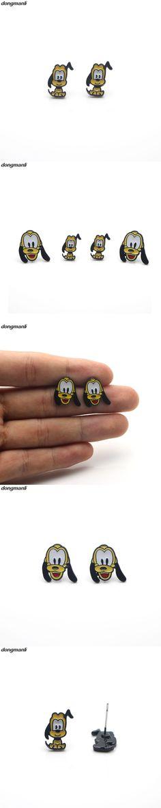 WS939 New 1 pair Cartoon Pluto Dog Head Earings Cartoon Women Girl Children kids Lovely Gifts