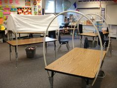 "I was in my wife's classroom on Saturday helping her turn her tables into ""Covered Wagons."" She is reading the book- Patty Reed's Doll: The Story of the Donner Party by Rachel K. Laurgaard in her 4..."