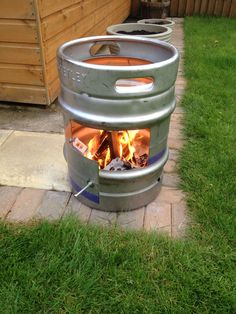 Beer Barrel Wood Burner