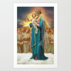 Mother Mary Queen of Heaven and earth Site-Wide Activity Mother Of Christ, Blessed Mother Mary, Blessed Virgin Mary, Religious Pictures, Religious Icons, Religious Art, Images Of Mary, Queen Of Heaven, Sainte Marie