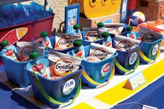 kids pool party gift bags
