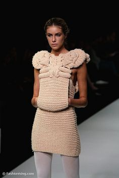 Knitwear Fashion, Crochet Fashion, Sandra Backlund, Big Knits, Powerful Women, Peplum Dress, Creations, Women Wear, Knitting