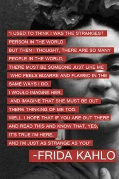 Strange, are you?