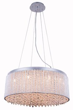 Elegant Lighting - 2092 Influx Collection Hanging Fixture D24 H12in LT:14 Chrome Finish (Royal Cut Crystals)