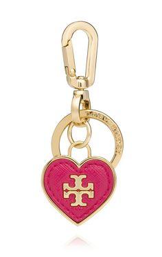 Tory Burch Heart Key Fob