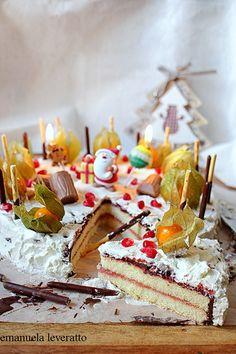 torta veloce di #Natale al cioccolato e panna #christmas
