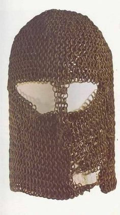 """XIII Century """"masked"""" chainmail coif from National History Museum in Bulgary"""