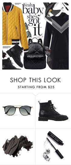 """Street Style"" by pokadoll ❤ liked on Polyvore featuring Ray-Ban, Hedi Slimane, Giuseppe Zanotti, Bobbi Brown Cosmetics, Moschino, polyvoreeditorial and polyvoreset"