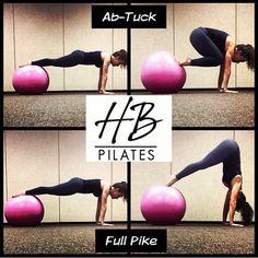 The Ab-Tuck with the Balance Ball. #Ab-Tuck #abs #pilates