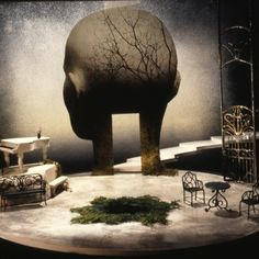 "Ralph Koltai – Set design for Tennessee Williams' ""Suddenly, Last Summer,"" Nottingham, 1998 Set Theatre, Set Design Theatre, Theatre Stage, Bühnen Design, Graphic Design, Scenography Theatre, Stage Beauty, Stage Set Design, Scenic Design"
