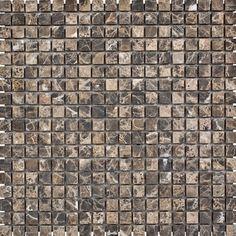 """Emperador Tumbled 0.625"""" x 0.625"""" Stone Mosaic Tile in Dark"""