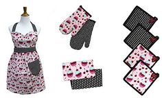 9 piece 100 Cotton Apron set Cupcake -- Find out more about the great product at the image link.