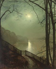 Moonlight on the Lake / John Atkinson Grimshaw