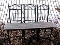 New garden benches using old salvaged materials! | Flea Market ...