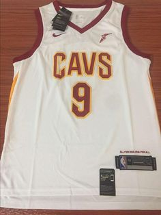 efc99df7394 Men CAVS 9 Dwyane Wade Jersey White Cleveland Cavaliers Fanatics Icon  edition