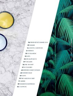 #ClippedOnIssuu from &klevering summer collection 2014 - another example of a table of content