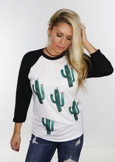 The magical mystical saguaro cactus makes it appearance on this roomy unisex fit baseball tee.