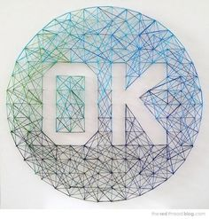Want to make the DLK logo for the office. Pins and thread.