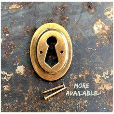 KEYHOLE Escutcheons Vintage Solid Brass