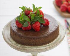 Tarta cheesecake de queso y chocolate