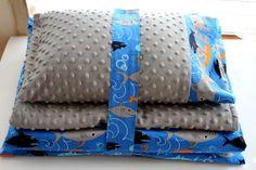 Nap Mat Cover Sharks Blue Black Orange by ThePinkRoseBoutique