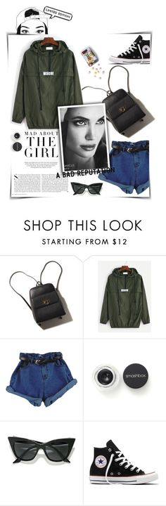 """""""good girl gone bad"""" by magi-418 ❤ liked on Polyvore featuring Kershaw, Smashbox, LULUS and Converse"""