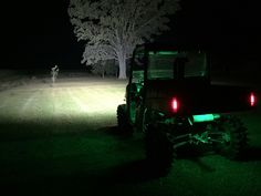 """2015 Polaris Ranger Midsize 570 with my 42"""" Curved Cree Lightbar making night into day."""