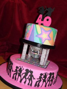 70's Theme Disco Cake  - Cake by emma