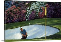 """Contemporary styled canvas print of Golfer hitting on the green. More sizes of William Vanderdasson's """"Golf Course VI"""" Gallery Wrap Canvas available at GreatBIGCanvas.com."""