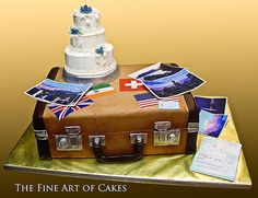 Travel Suitcase Wedding Cake (5,001)	  by fineartofcakes