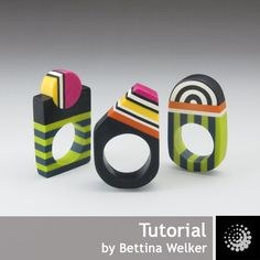 This tutorial is an excerpt of my first book Edle Schuck-Unikate & Accessoires aus Polymer Clay. The book is out of print ;  bettina welker tutorial for sale on etsy