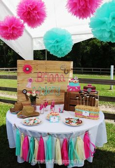 Cowgirl Party Birthday Party Ideas   Photo 6 of 25
