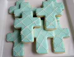 Cross First Communion cookies by FunFavors on Etsy