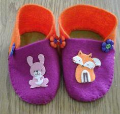 Original Felt Handmade Boys Girls Shoes size 0-3 3-6  by Bubucraft