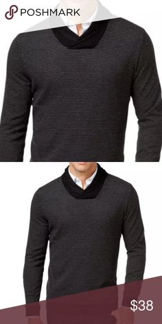 Tasso Elba-Black Rice Stitch Shawl  Sweater XXL Manufacturer: Tasso Elba Size: XXL Size Origin: US Manufacturer Color: Black Combo Retail: $75.00 Condition: New with tags Style Type: Shawl-Collar Sweater Collection: Tasso Elba Sleeve Length: Long Sleeve Neckline: Shawl Material: 100% Cotton Fabric Type: Knit Specialty: Ribbed Trim Style Number: 63W07RICES Sku: BH2720531 ID#990 Tasso Elba Sweaters Cardigan