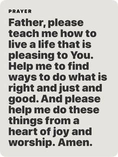 Prayer Scriptures, Bible Prayers, Catholic Prayers, Faith Prayer, God Prayer, Prayer Quotes, Spiritual Quotes, Faith Quotes, Wisdom Quotes